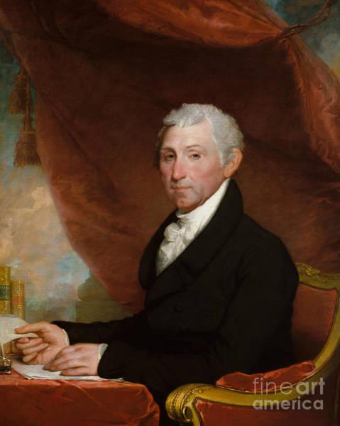 Drapes Painting - James Monroe by Gilbert Stuart