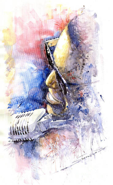 Wall Art - Painting - Jazz Ray Charles by Yuriy Shevchuk