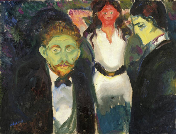 Norwegian Painting - Jealousy by Edvard Munch