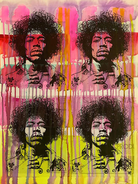 Wall Art - Painting - 4 Jimi by Dean Russo Art