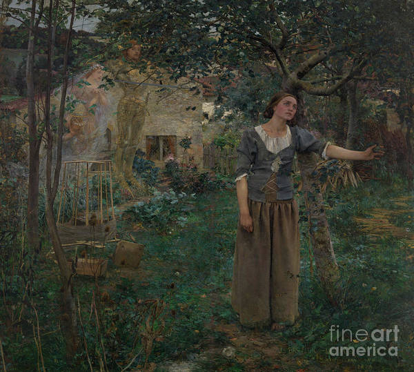 1879 Painting - Joan Of Arc by Jules Bastien-Lepage