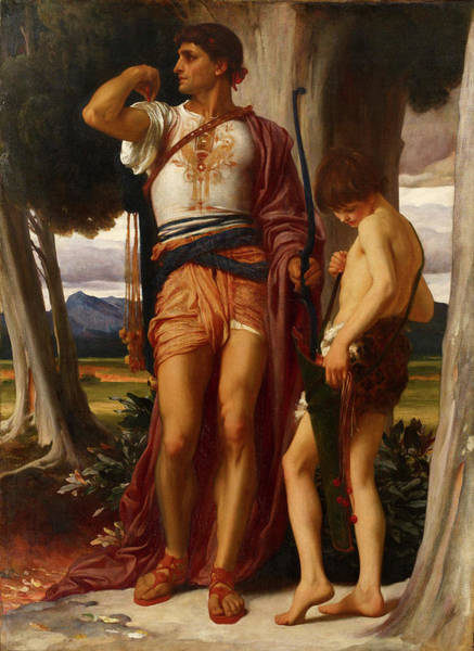 Prophet Painting - Jonathan's Token To David by Frederic Leighton