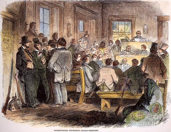 Delegation Photograph - Kansas-nebraska Act, 1855 by Granger