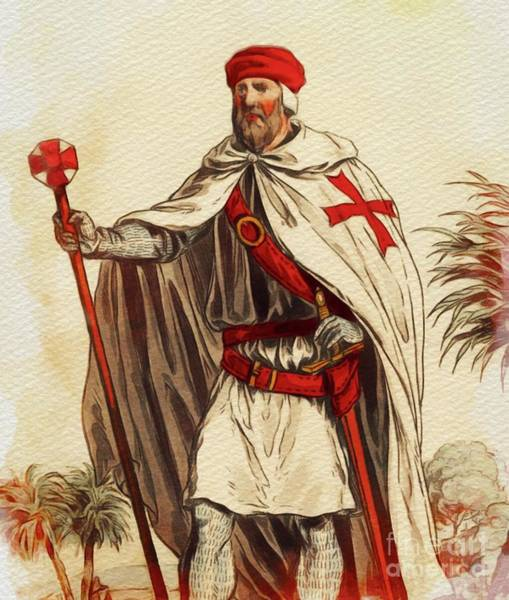 Wall Art - Painting - Knight Templar by John Springfield