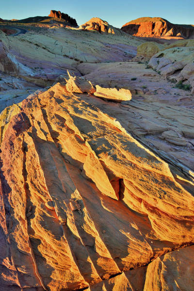 Photograph - Last Light On Valley Of Fire by Ray Mathis