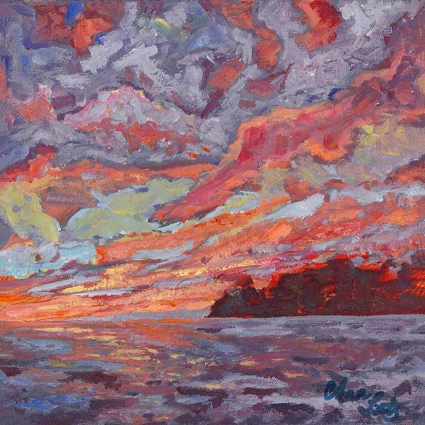 Wall Art - Painting - Lavender Skies by Ann Lutz