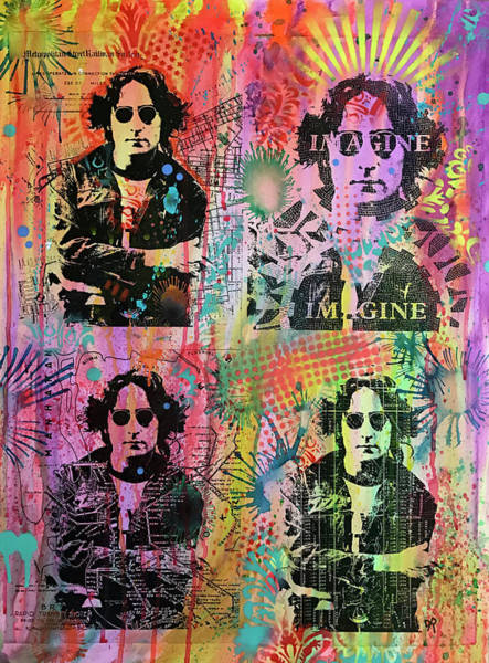 Wall Art - Painting - 4 Lennon by Dean Russo Art