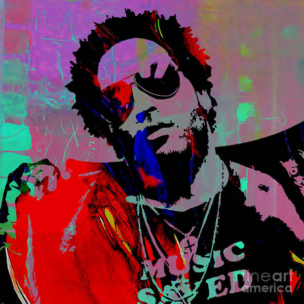 Wall Art - Mixed Media - Lenny Kravitz Collection by Marvin Blaine