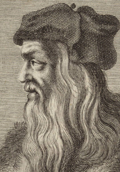 Wall Art - Drawing - Leonardo Da Vinci by English School