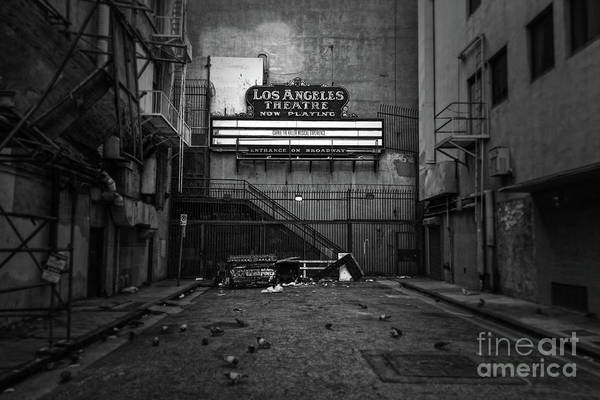 Photograph - Los Angeles Theater Alley by Gregory Dyer