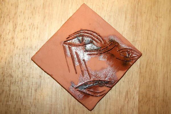 Ceramic Art - Loss - Tile by Gloria Ssali