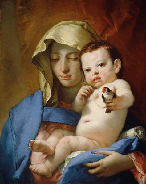 Painting - Madonna Of The Goldfinch by Giovanni Battista Tiepolo