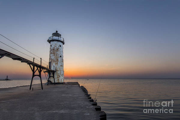 Manistee Photograph - Manistee Lighthouse And Pier by Twenty Two North Photography