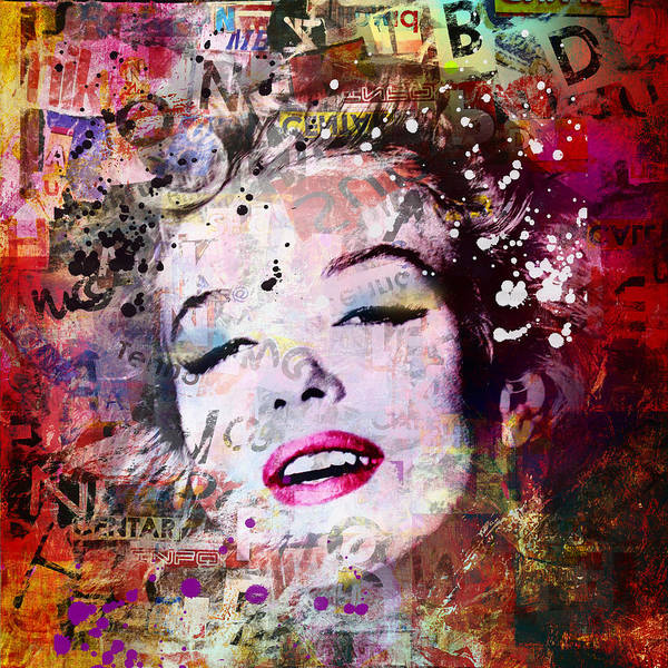 Wall Art - Painting - Marilyn Monroe by Mark Ashkenazi
