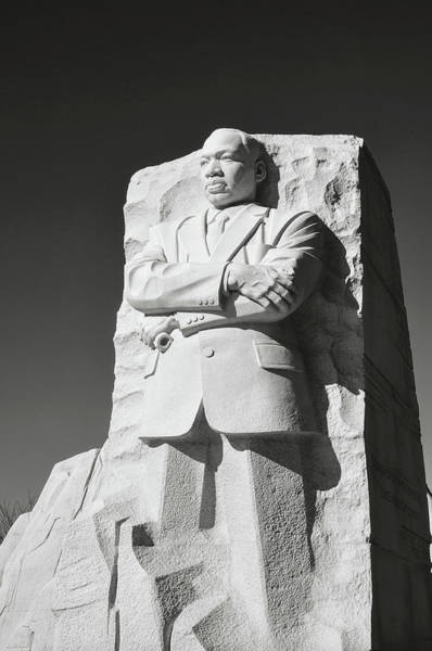 Photograph - Martin Luther King Statue In Washington Dc by Brandon Bourdages