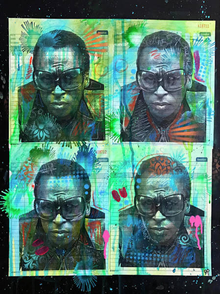 Miles Davis Painting - 4 Miles by Dean Russo Art