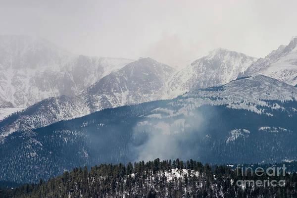 Photograph - Misty Pikes Peak by Steve Krull