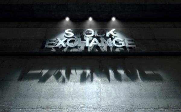 Cutout Digital Art - Modern Stock Exchange Signage by Allan Swart