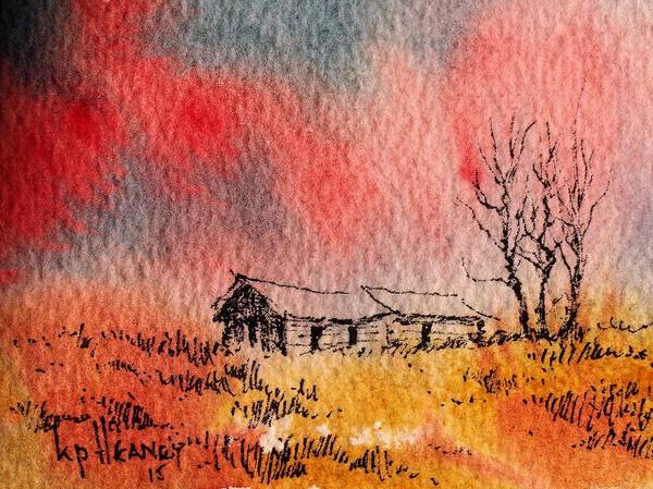 Mixed Media - Montana Homestead by Kevin Heaney