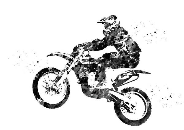 Wall Art - Digital Art - Motocross Dirt Bike by Erzebet S