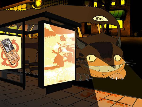 Totoro Digital Art - My Neighbor Totoro by Mery Moon