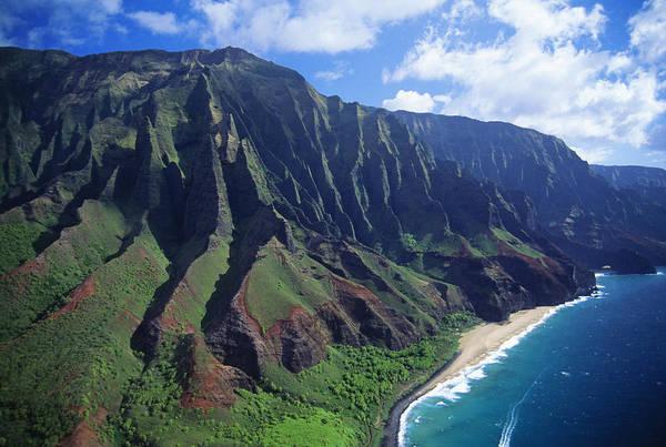 Wall Art - Photograph - Na Pali Coast Aerial by Bob Abraham - Printscapes