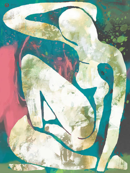 Nude Mixed Media - New Pop Art Nude Poster   by Kim Wang