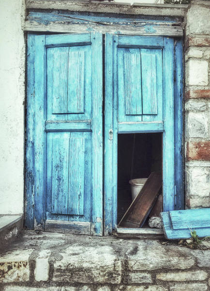 Wall Art - Photograph - Old Blue Door by Tom Gowanlock
