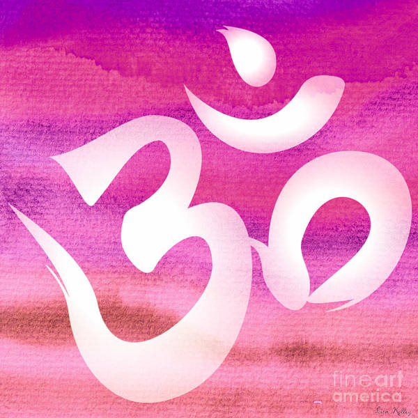 Digital Art - Om Symbol. Pink by Lita Kelley