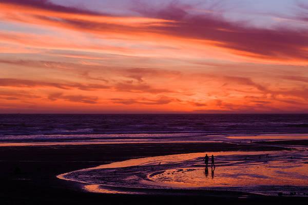 Wall Art - Photograph - Oregon Beach Sunset In Lincoln City by Joshua Rainey