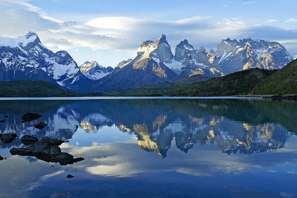 Del Photograph - Patagonia Reflection by Michele Burgess