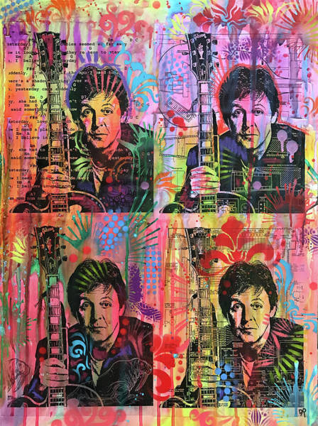 Paul Mccartney Painting - 4 Paul by Dean Russo Art