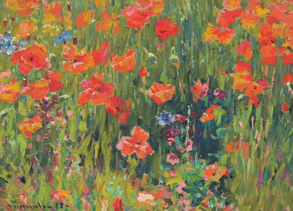 Perennial Painting - Poppies by Robert Vonnoh