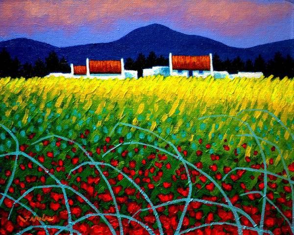 Wall Art - Painting - Poppy Meadow by John  Nolan