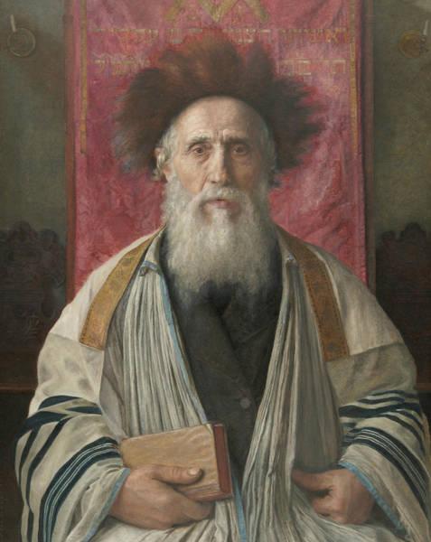 Painting - Portrait Of A Rabbi by Isidor Kaufmann