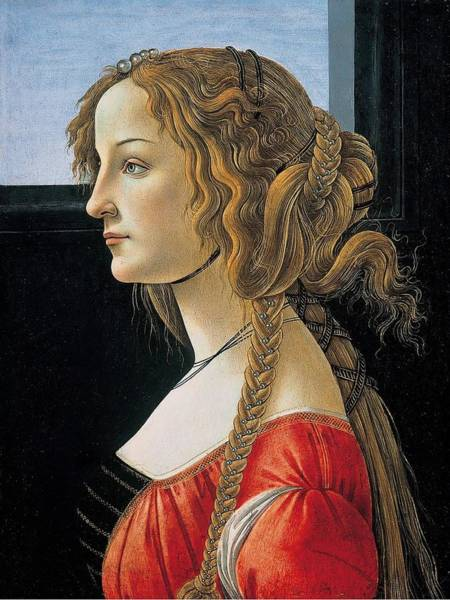 Sandro Botticelli Painting - Portrait Of A Young Woman by Sandro Botticelli