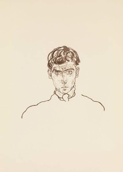 Relief - Portrait Of Paris Von Gutersloh by Egon Schiele