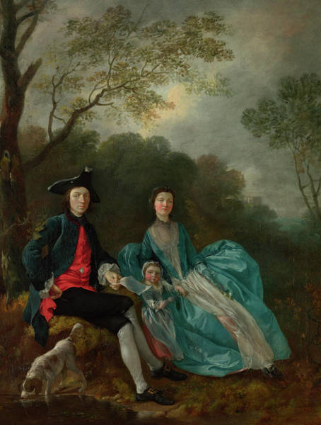 Thomas Gainsborough Wall Art - Painting - Portrait Of The Artist With His Wife And Daughter by Thomas Gainsborough