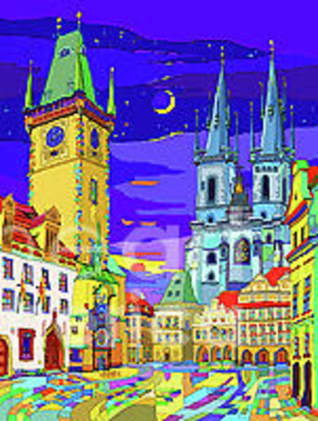Wall Art - Mixed Media - Prague Old Town Square by Yuriy Shevchuk