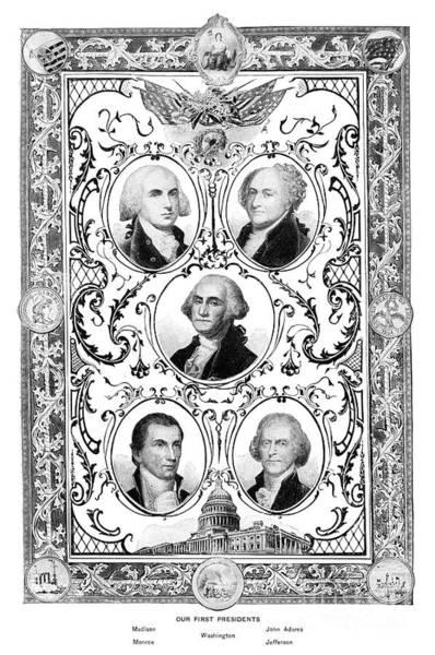 Wall Art - Drawing - Presidents. by Granger