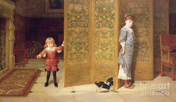 Brother And Sister Wall Art - Painting - Puritan And Cavalier by Frederick Goodall