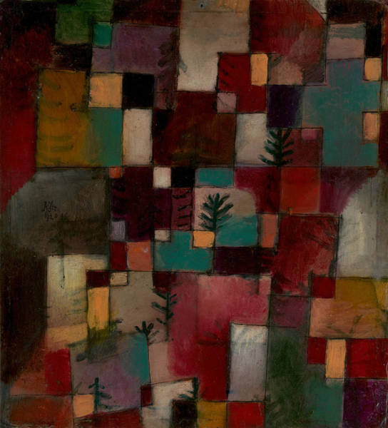 Painting - Redgreen And Violet-yellow Rhythms by Paul Klee