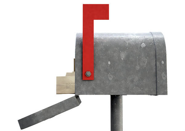 Wall Art - Digital Art - Retro Mail Box And Letter Stack by Allan Swart
