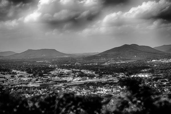 Roanoke City As Seen From Mill Mountain Star At Dusk In Virginia Art Print