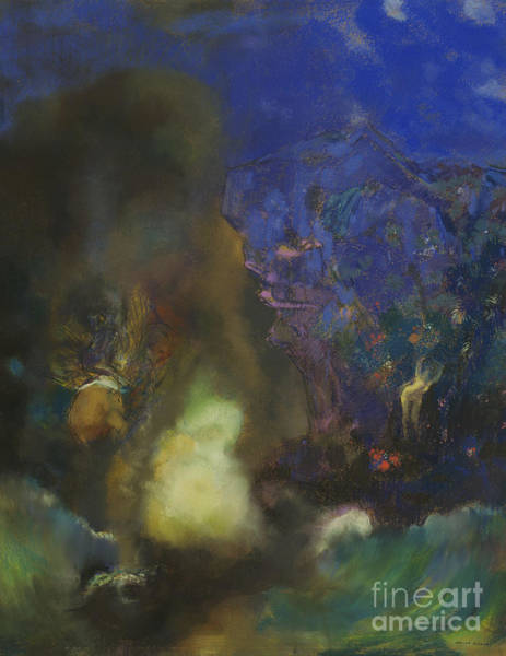 Wall Art - Pastel - Roger And Angelica by Odilon Redon
