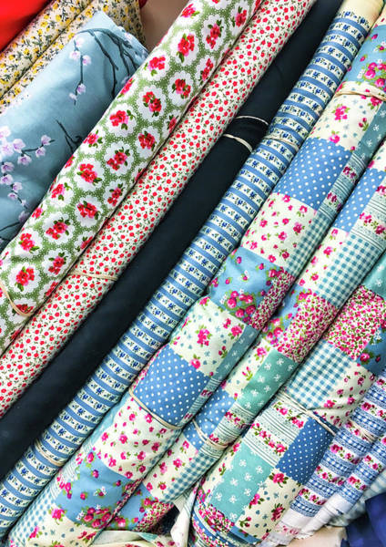 Clothing Store Photograph - Rolls Of Fabric by Tom Gowanlock