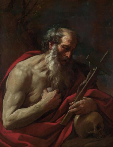 Elderly Painting - Saint Jerome by Guido Reni