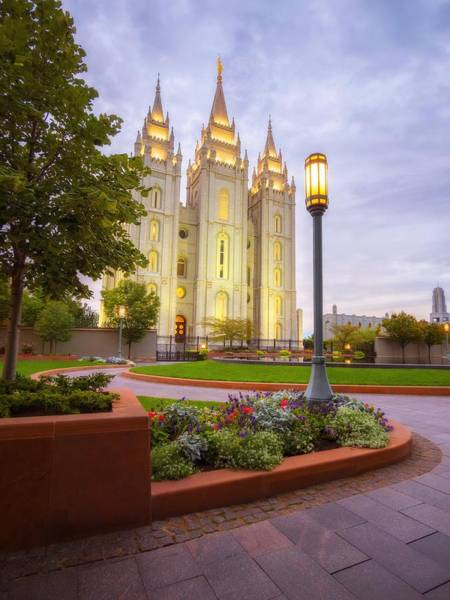 Art Print featuring the photograph Salt Lake Temple by Dustin  LeFevre
