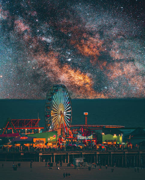 Santa Monica Pier Photograph - Santa Monica Pier by Art K