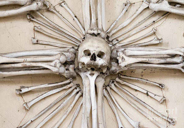Charnel Photograph - Sedlec Ossuary - Charnel House by Michal Boubin
